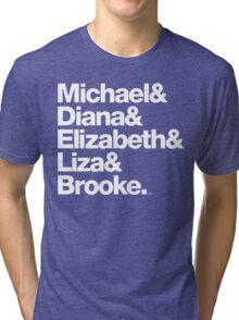 Michael Jackson & Diana Ross & Liz Taylor Tri-blend T-Shirt