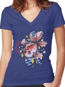 Goldeen Women's Fitted V-Neck T-Shirt