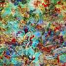 Rustic Colorful Floral Collage Grunge Syle by artonwear