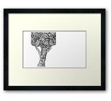 Op Tree Framed Print