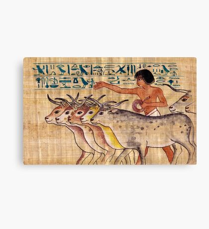 Happy Cows of Nebamun Canvas Print