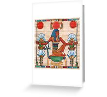 God of Time Greeting Card