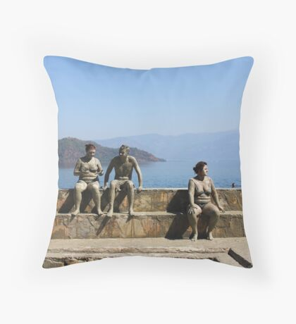 At the mud baths Throw Pillow