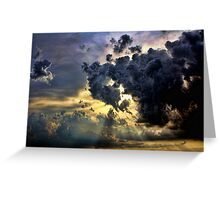 God Rays And Clouds Greeting Card