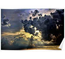God Rays And Clouds Poster