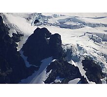 where glacier meets mountain Photographic Print