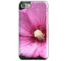 Pink Flower with Bud iPhone Case/Skin