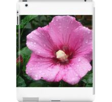 Pink Flower with Bud iPad Case/Skin