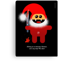 SAVAGE SANTA Canvas Print