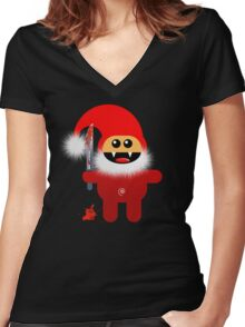 SAVAGE SANTA Women's Fitted V-Neck T-Shirt