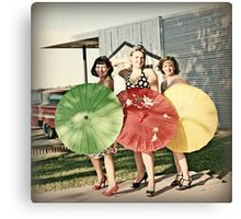 Pinup Girls Canvas Print