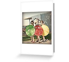 Pinup Girls Greeting Card