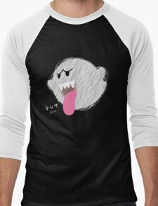 boo -scribble- Men's Baseball ¾ T-Shirt