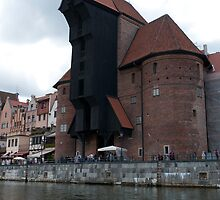 The Gdansk Crane seen from the River Motława by Mark Prior