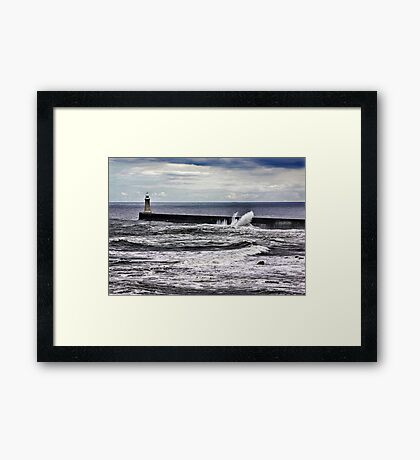 Harbour Light at Tynemouth,Northumberland Framed Print