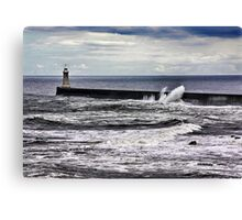 Harbour Light at Tynemouth,Northumberland Canvas Print