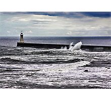 Harbour Light at Tynemouth,Northumberland Photographic Print