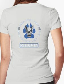 Jaws With Paws Enforcing The Law Womens Fitted T-Shirt
