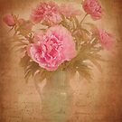 Nostalgic pink peonees by steppeland