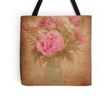 Nostalgic pink peonees Tote Bag