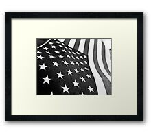 Black and White Flag Framed Print