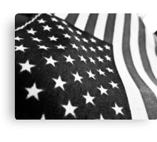 Black and White Flag Canvas Print