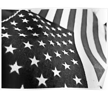 Black and White Flag Poster