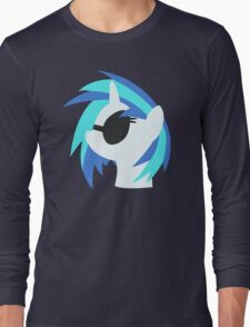 Vinyl Scratch sillhouette 2  (No boarder) Long Sleeve T-Shirt