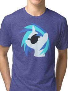 Vinyl Scratch sillhouette 2  (No boarder) Tri-blend T-Shirt