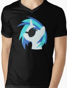 Vinyl Scratch sillhouette 2  (No boarder) Mens V-Neck T-Shirt