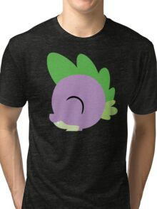 Spike silhouette (No boarder) Tri-blend T-Shirt