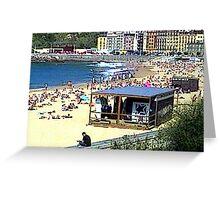 """Beachlife - San Sebastian, Spain"" Greeting Card"