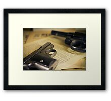 WW2 guns Framed Print
