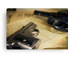WW2 guns Canvas Print