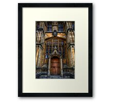 Bodleian Library Door Framed Print