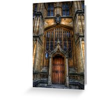 Bodleian Library Door Greeting Card