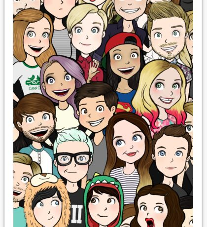 Youtubers Sticker
