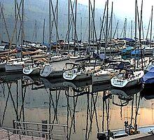 """Sailboats - Fallenbach, Switzerland"" by Michelle Lee Willsmore"