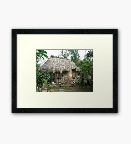 mayan house 1 Framed Print