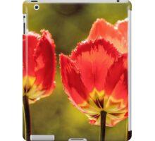 Glowing Red Tulips iPad Case/Skin