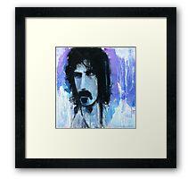 Frank Zappa Portrait Framed Print