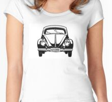 VW Old School in black Women's Fitted Scoop T-Shirt