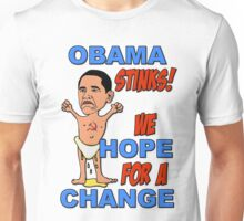 Obama Stinks! We Hope For A Change Unisex T-Shirt