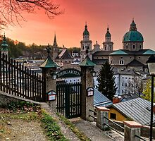 Biergarten sunset by PhotosOnTheRoad