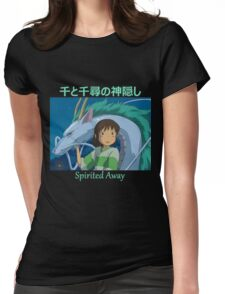 Spirited Away -  Haku and Chihiro - (Designs4You) - Anime Womens Fitted T-Shirt