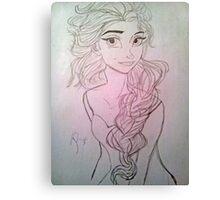 Lady Angel Canvas Print
