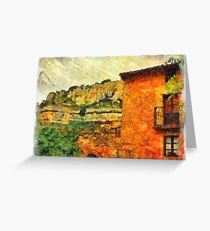 El Castillo, Orbaneja del Castillo, Spain Greeting Card
