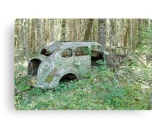 Old Car in the Forest - 24739 Canvas Print