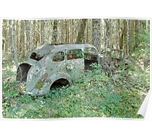 Old Car in the Forest - 24739 Poster