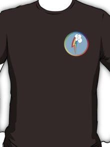 Rainbow Dash Cutie Mark (Bordered & Colored) T-Shirt